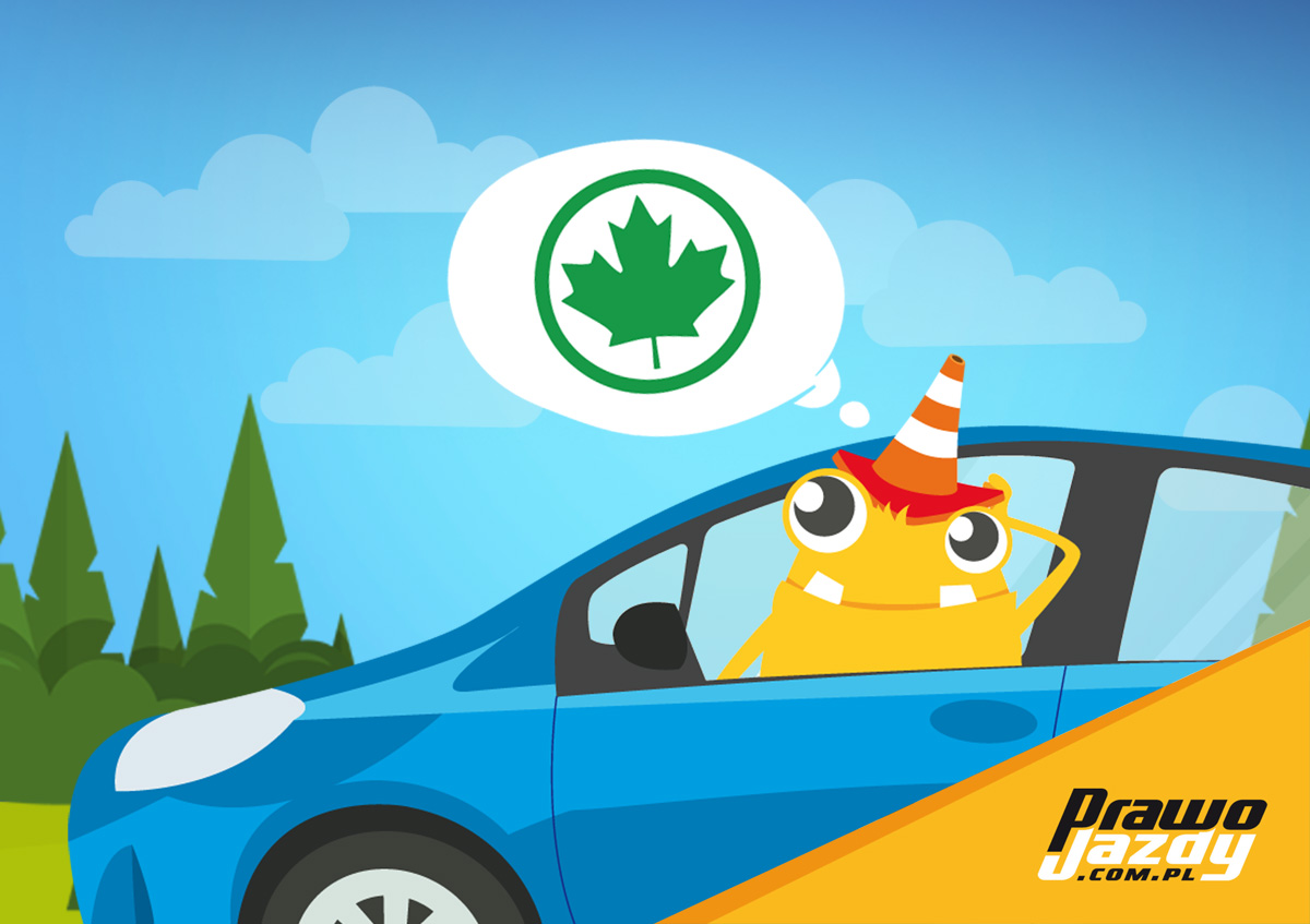 Zdjęcie przedstawiające Pana Pachołka w samochodzie, myślącego o zielonym listku, o zmianach w prawie jazdy- Zielony listek będzie obowiązkowy, ale od kiedy - nie wiadomo